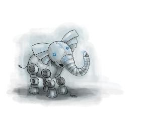 Rboto-elephant