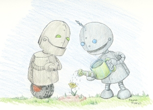 Robots-Watering-Flower-AHS