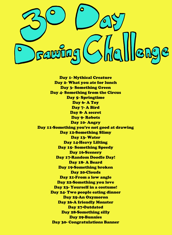 Gallery Of Drawing Challenge List Autos Post Drawing Challenge