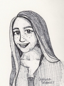 self portrait-ink