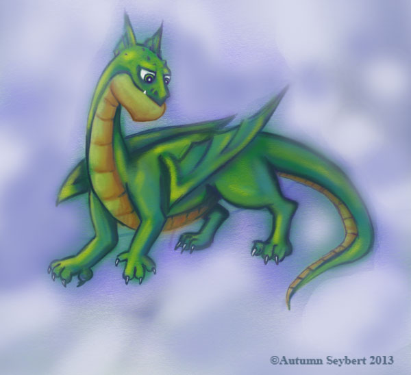 Dragon-on-a-cloud