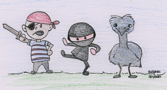 Pirate, Ninja, and Emu
