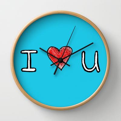clock I heart u