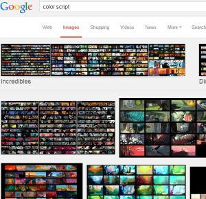 Color Script Google Search