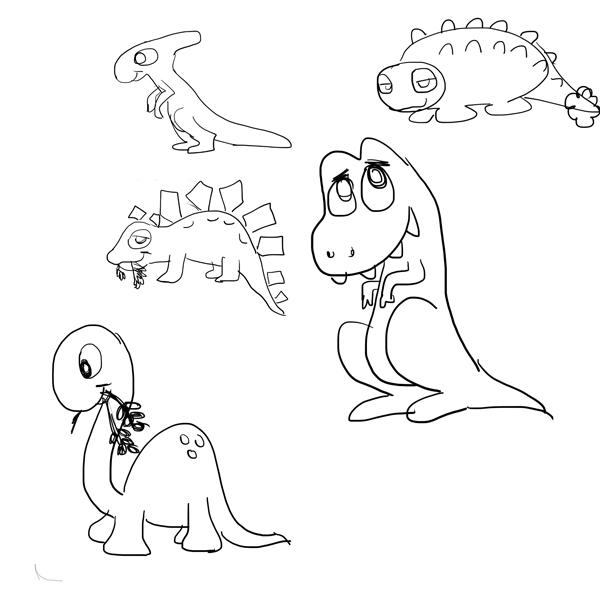 first-dino-sketchs