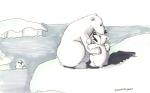 Mama bear consoles baby bear