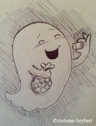 Mashmallows are Ghostie's favorite food, you know.