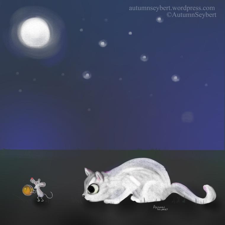 white-cat-pouncing